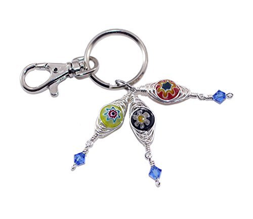 f583bc060038 Amazon.com  Evil Eye Bag Charm – Protection Amulet - Lucky Charm - Keychain  Purse Charm  Handmade