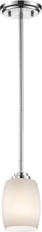 Kichler 3497CH Mini Pendant Lighting, Chrome 1-Light 5 W x 14 H 100 Watts