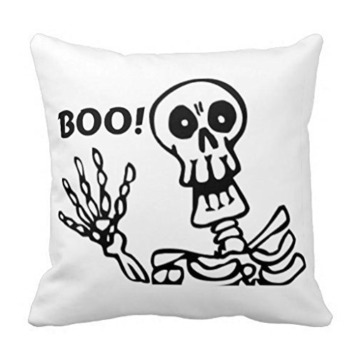 Cotton Corduroys Vintage (BEArtStore Skeleton Boo Cotton Linen Throw Pillow Case Cushion Cover Colorful18x18)