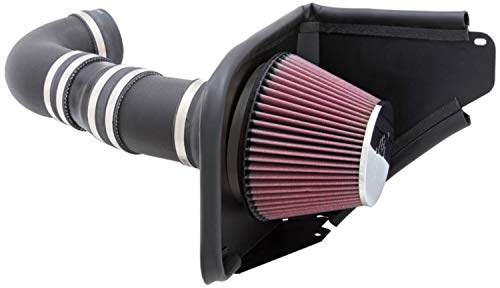 2014 Pontiac G8 - K&N Cold Air Intake Kit with Washable Air Filter:  2014-2017 Chevy SS and 2008-2009 Pontiac G8, 6.0/6.2 V8,  Black HDPE Tube with Red Oiled Filter, 63-3071