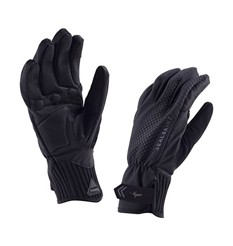 Bell Cycling Gloves Pro Gel (SEALSKINZ 100% Waterproof Unisex glove - Windproof & Breathable - suitable for cycling, commuting in All Weather conditions)