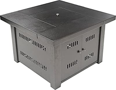 LEGACY HEATING Square Gas Fire Table Durable Powder Coating