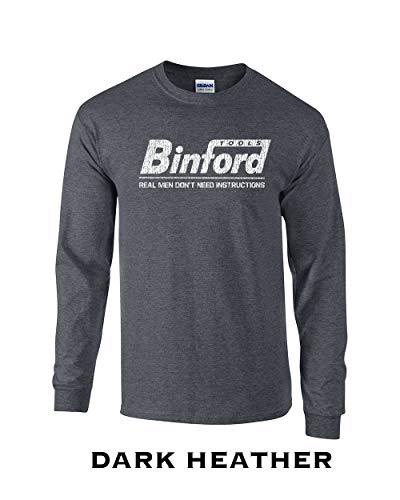 Swaffy Tees 61 Binford Tools Funny Adult Long Sleeve T Shirt Dark Heather]()