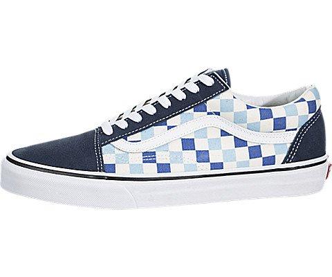 Galleon - Vans U Old Skool (QCM) (Checkerboard) Blue Topaz Blue (7.5) 3507fc934