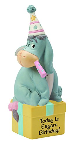 Precious Moments, Disney Showcase Collection, Today Is Eeyore's Birthday! Bisque Porcelain Figurine, - Today Hours Disney
