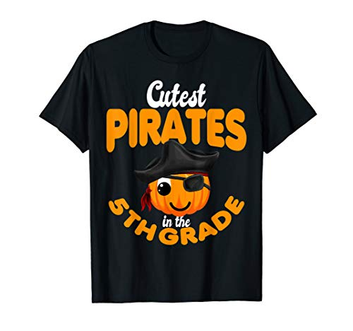 Halloween Cutest Pirate in the 5th grade Costumes T-Shirt