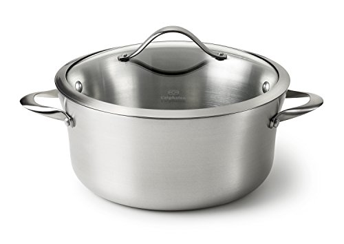 Calphalon Contemporary Stainless Steel 6.5-Quart Covered Sauce Pot