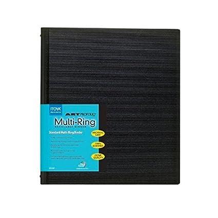 amazon com itoya art profolio multi ring binder and refills 9 in