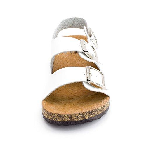Kali Kid Buckle Strap Open Toe 2 Hook Girls White Toddler Sandals 2 Ankle Little aPCqarwA4x
