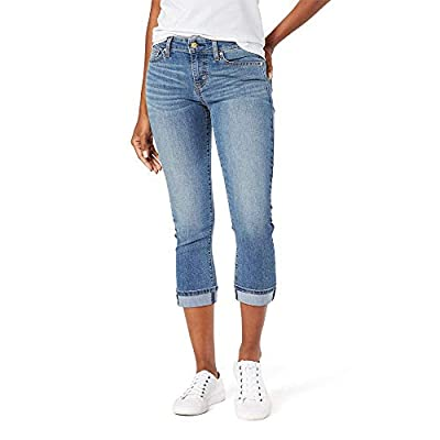 Signature by Levi Strauss & Co. Gold Label Women's Mid-Rise Slim Fit Capris at Women's Clothing store