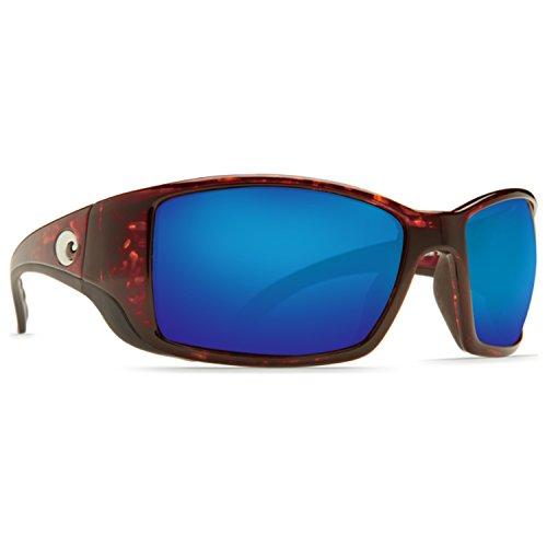Costa Del Mar Blackfin 580G Polarized Blue Wave Glass, Shiny Tortoise - Blackfin Costa 580
