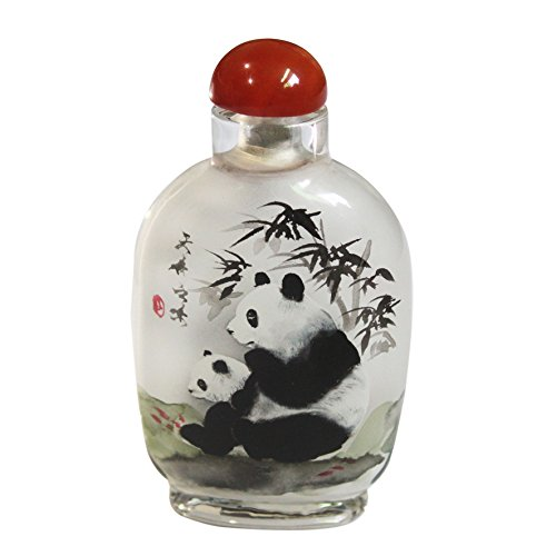 Ancient-Gift Handicraft Snuff Bottle - Inside Painted with Panda
