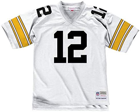 the best attitude 8b370 2fc8c Mitchell & Ness Terry Bradshaw White Pittsburgh Steelers Throwback Jersey