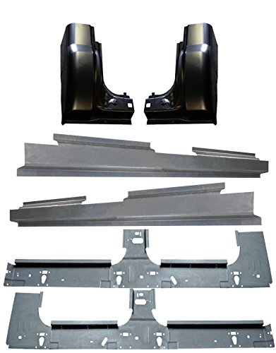 Motor City Sheet Metal - Works With 99-16 Ford Super Duty Crew Cab Inner & Full lengh outer Rocker Panel Cab Corners ()