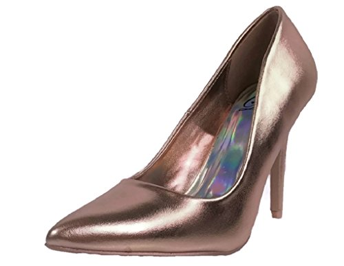 Women's Pointy Single Sole Pump Velvet Toe Rose Cindy Delicious Gold Classic SxXFEwdS