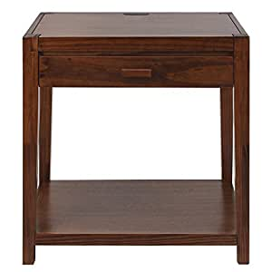 Casual Home 649-24 Notre Dame Nightstand with USB Ports-Warm Brown