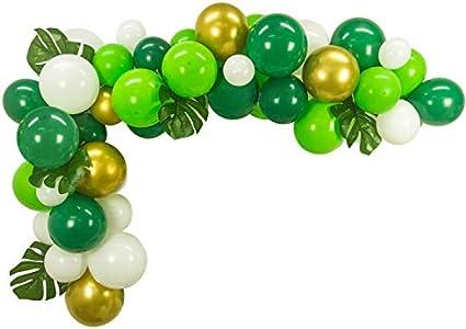 Amazon.com: 50 guirnaldas de globos de bricolaje con 6 hojas ...