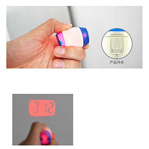 Portable Digital Laser Projector Pen Clock Watch Time
