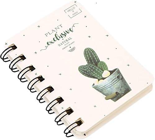 MSYOU Hardcover Notizbuch, einfaches kleines frisches Kaktus-Stil, hochwertiges dickes Papier, Rekordbuch, Schule, Bürobedarf
