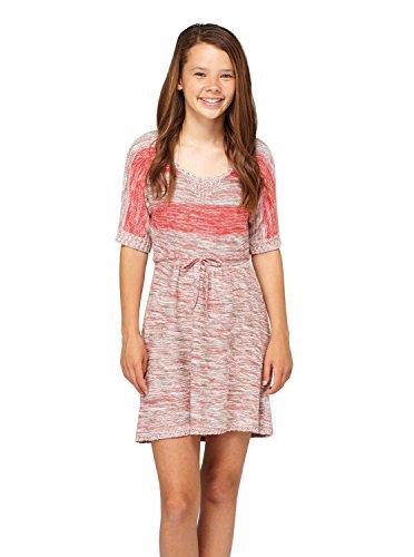 Roxy Big Girls' Out Late Sweater Dress, Hot Rose Stripe, Medium