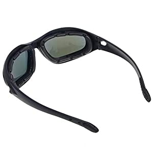 Polarized Driving Riding Lens Sun Glasses with 4 Lens for Motorcycle Bicycle Outdoor Activity Sports Hunting Military