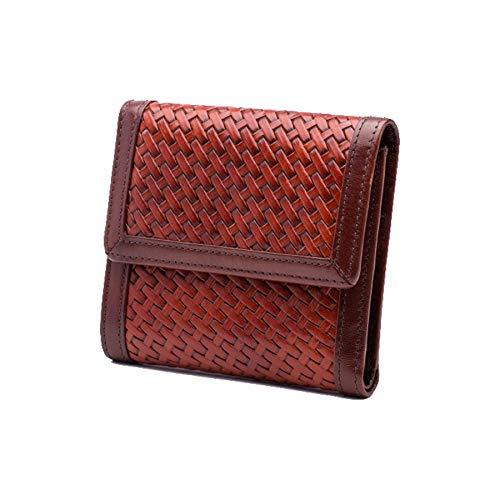 (Bosca Naples Small Wallet (Basket Style Dark Auburn) )