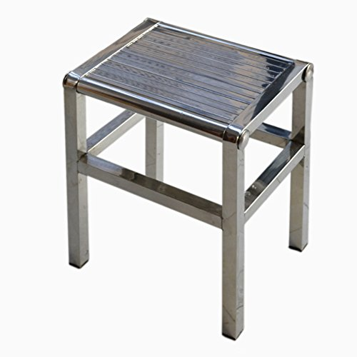 Denzihx Thickened Anti-skidding Metal Stool Chair,Stainless Steel Handmade Step Stool-E Diameter:45cm(18inch)