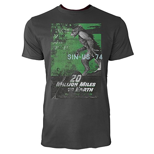 SINUS ART® 20 Million Miles To Earth Herren T-Shirts stilvolles rauch graues Fun Shirt mit tollen Aufdruck