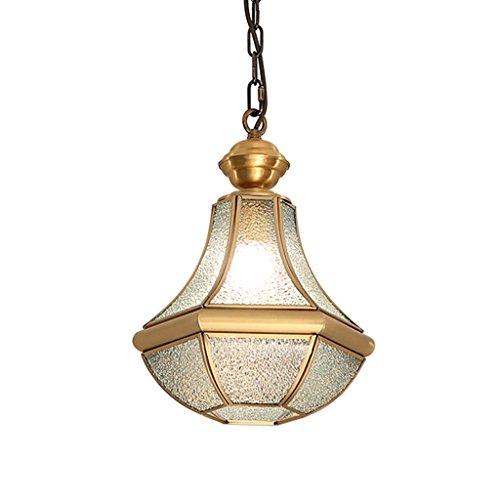 Candelabro de Techo Luces de Pasillo de Cobre lámpara Creativa Simple lámpara de Techo de lámpara única Europea pequeña