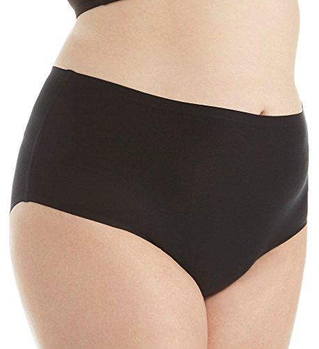 Chantelle Seamless High Waist Brief Plus Size Panty (1137) O/S/Black