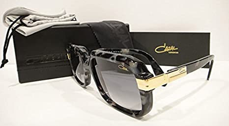 93c8209764f Amazon.com  Cazal 607 3 Sunglasses 607 Legend Black Marble Gold (090)  Authentic New  Clothing