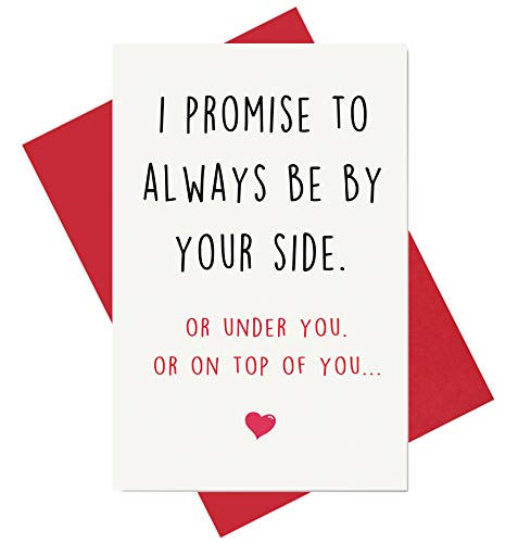 Funny Anniversary Card, Birthday Card, Card for Boyfriend Husband Fiance Girlfriend Wife Fiancee (Birthday Valentines Cards)