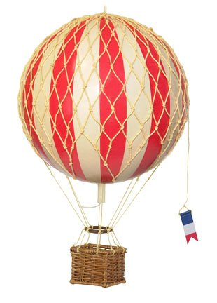 Authentic Models Travels Light Hot Air Balloon Model in True Red by Authentic Models