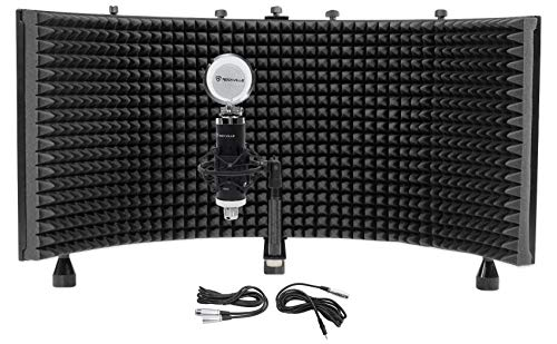 Rockville RCM03 Pro Studio Recording Condenser Microphone Mic+Shock Mount+Shield (Best Microphone For Rapping)
