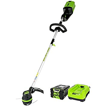 Greenworks PRO 16-Inch 80V Cordless String Trimmer, 2.0 AH Battery Included ST80L210