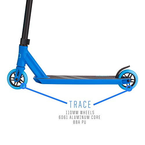 Fuzion Z250 Pro Scooter - All 4.37'' x 20.5'' Deck Dimensions - 110mm Aluminium Core Wheels - HIC Compression System -Chromoly T-Bars (2018 Blue) by Fuzion (Image #2)