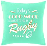 Hippowarehouse Today's Good Mood is Brought to You by Rugby Printed bedroom accessory cushion cover case 41x41cm