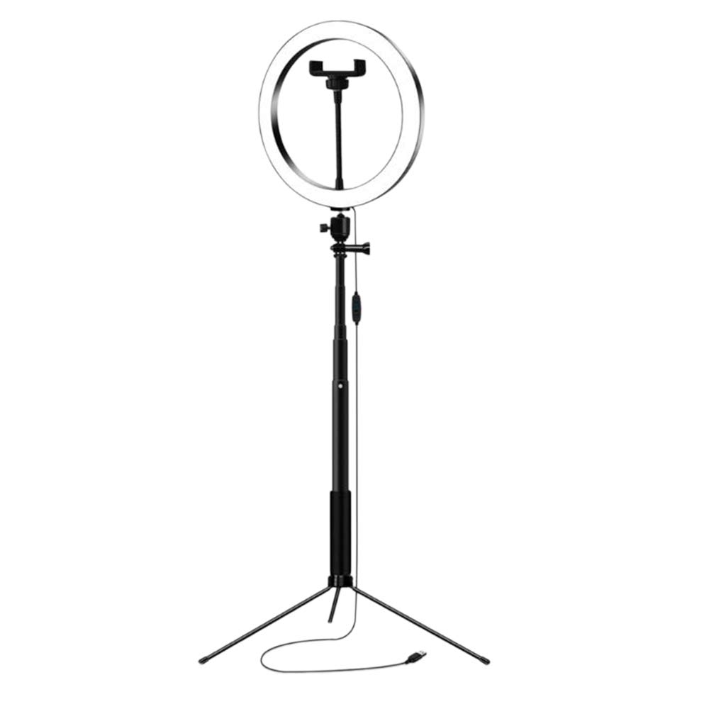 SODIAL 26Cm Photography Led Selfie Lighting Light with Selfie Stand Tripod & USB Plug Dimmable for Makeup Video Live Studio