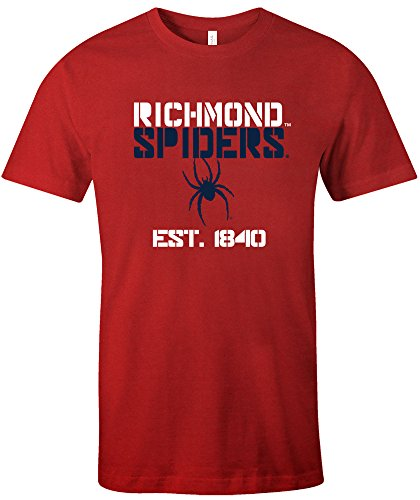 NCAA Richmond Spiders Est Stack Jersey Short Sleeve T-Shirt, Red,XX-Large