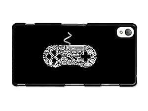 Video Game Joystick Collage Funny Illustration Black and White carcasa de Sony Xperia Z3