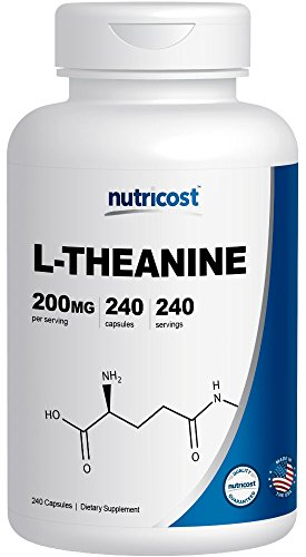 Nutricost L-Theanine 200mg, 240 Capsules - Double Strength