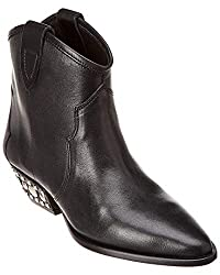 Isabel Marant Dawyna Leather Ankle Boot 36 Black