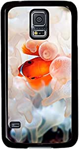 Clown-Fish-Ocean-Underwater-World Cases for Samsung Galaxy S5 I9600 with Black sides