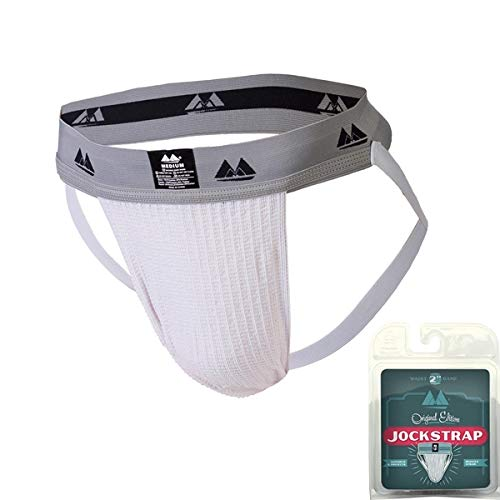 Bike Adult Swim /& Jogger Performance Cotton Athletic Strap Supporter 1 pack white