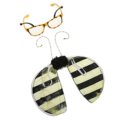 Funny Bee Party Glasses Honeybee Eyeglasses Fairy Wings Christmas Costume Dressing up Accessories -