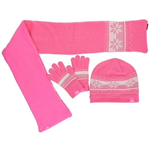 Adidas Gift Set Kids scarf, cap for girls rosa W64933, konfektionsgröße:S