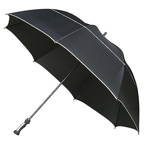 Hombre maxivent XXL Storm paraguas de golf, color negro