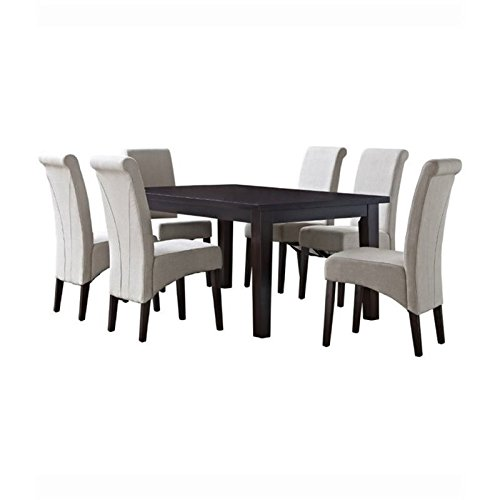 Simpli Home Avalon 7 Piece Dining Set, - 66 Piece Set Dinner
