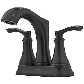 Pfister Auden Tuscan Bronze 2-Handle 4-in Centerset WaterSense ...