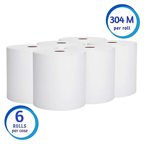 Scott Essential High Capacity Hard Roll Paper Towels (01005), White, 1000